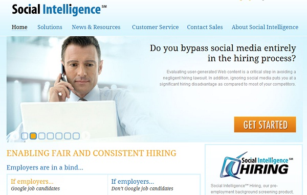 Social Intelligence site screenshot.