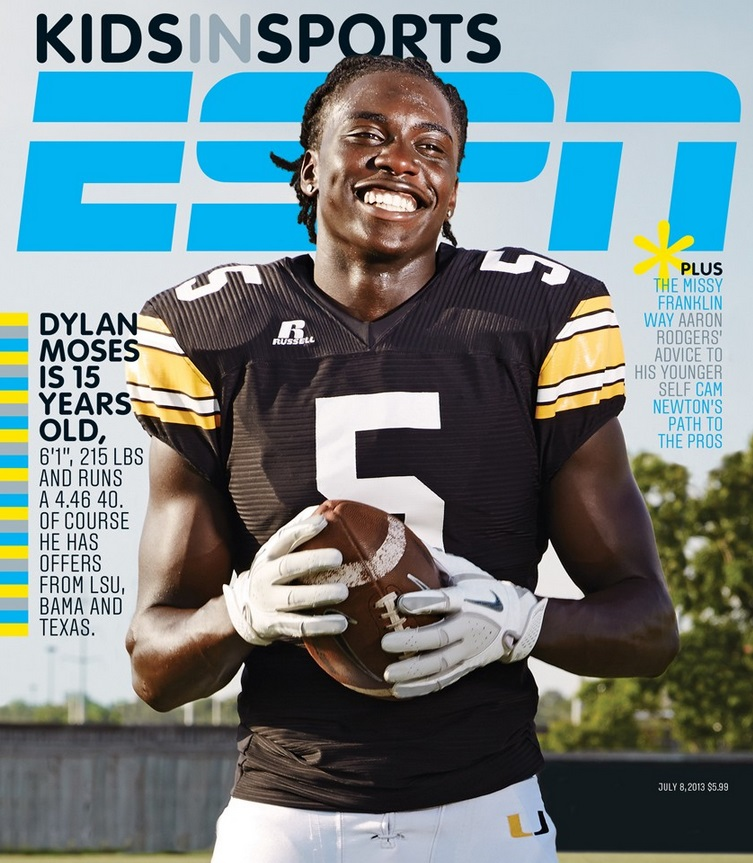 "Cover of the ESPN the Magazine ""Kids in Sports"" issue."