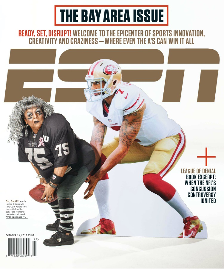 The cover of ESPN the Magazine, Oct. 2013.